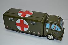 RARE Tin Toy Red Cross Truck