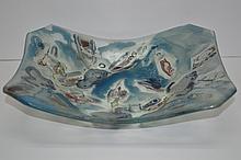 Artist Signed Glass Bowl