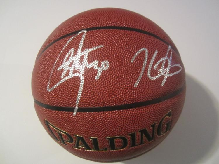 new arrival 21a42 f1d72 Stephen Curry/Kevin Durant Golden State Warriors Hand Signed ...