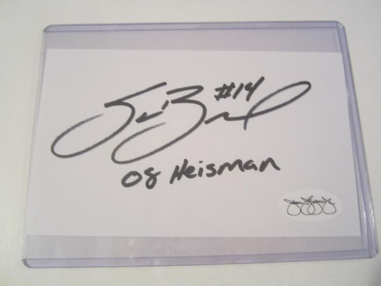 Sam Bradford Minnesota Vikings Signed Autographed Index Card