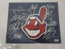 2016 Cleveland Indians Team signed autographed 8x10 Photo Certified Coa