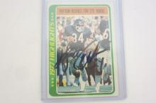 Walter Payton Chicago Bears signed autographed 1977 Highlights Trading Card Certified Coa