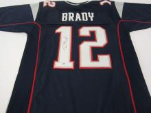 Tom Brady New England Patriots signed autographed Blue Jersey Certified Coa