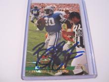 Barry Sanders Detroit Lions signed Topps Stadium Club Members Only football card Certified COA