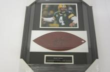 Brett Favre Green Bay Packers signed autographed Framed football panel Certified COA