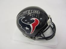 JJ Watt Houston texans signed autographed mini football helmet Certified COA