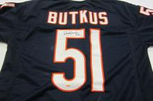 Dick Butkus Chicago Bears signed autographed blue football jersey Certified COA