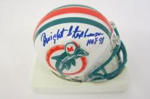 Dwight Stephenson Miami Dolphins signed autographed Mini Helmet Certified COA
