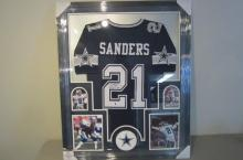 Deion Sanders Dallas Cowboys signed autographed Framed Jersey Certified Coa