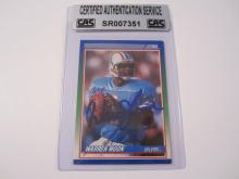 Warren Moon Houston Oilers signed autographed 1990 Score football card Certified COA
