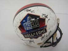 Earl Campbell, Brett Favre, Tony Dorsett and other members of the NFL HOF signed autographed Full Size Helmet Certified COA