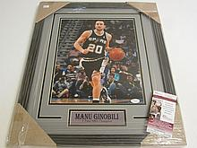Manu Ginobili Signed Display