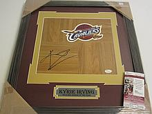 Kyrie Irving Signed Floorboard