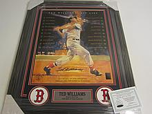 Ted Williams Signed Poster