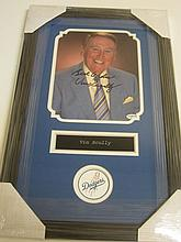 Vin Scully Signed Display