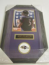 Joe Flacco Signed Display