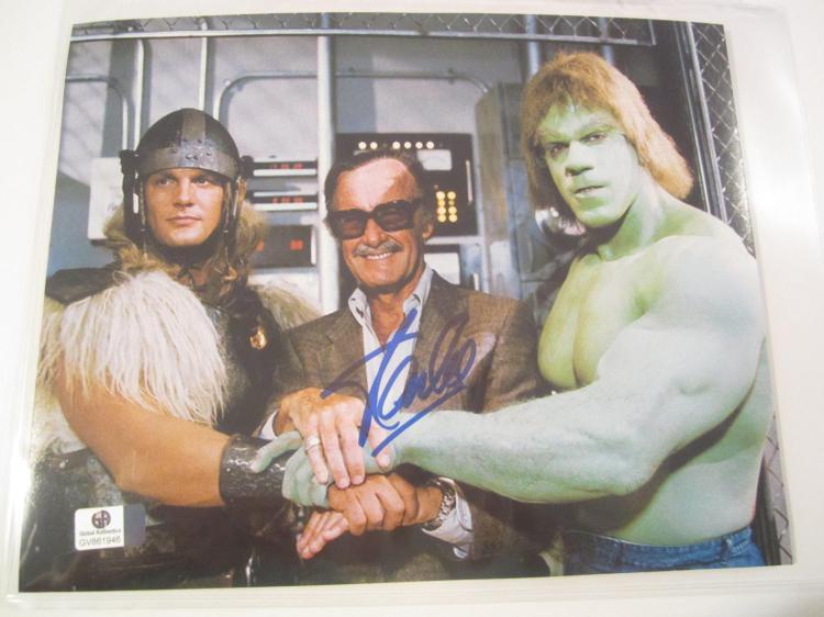 Stan Lee Marvel signed autographed 8x10 Photo Global Gai Coa