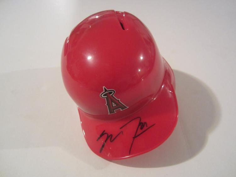 Mike Trout Los Angeles Angels signed autographed Mini Helmet Certified Coa