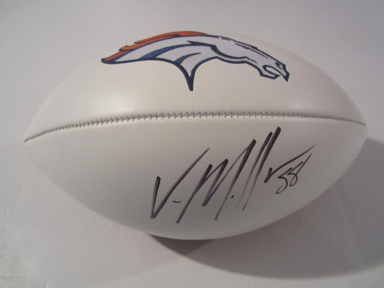 Von Miller Denver Broncos signed autographed Football Certified Coa