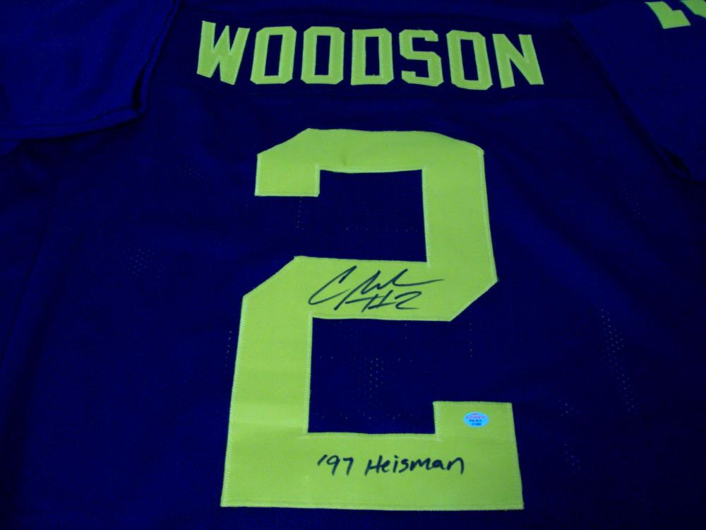 the best attitude 89102 11219 Charles Woodson Michigan Wolverines Signed football jersey w ...