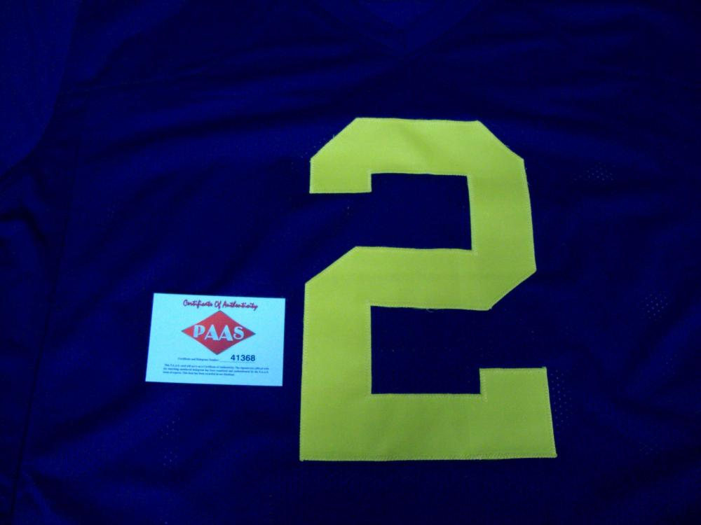 the best attitude aac62 e07e3 Charles Woodson Michigan Wolverines Signed football jersey w ...