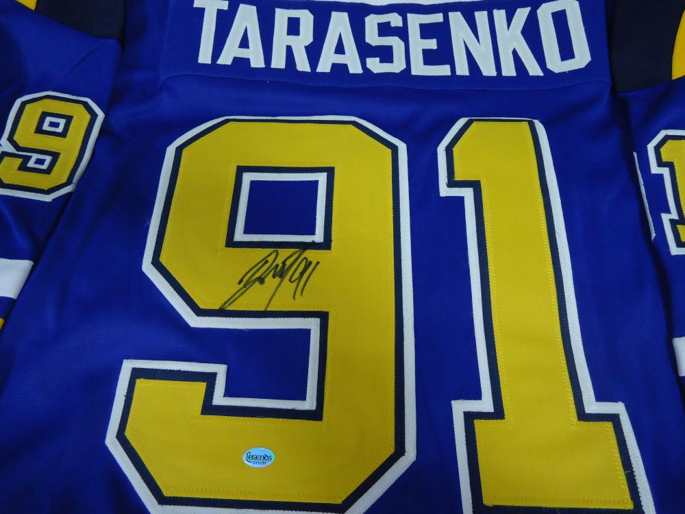 premium selection 31873 c730a Vladimir Tarasenko St Louis Blues Signed Blue Hockey Jersey ...