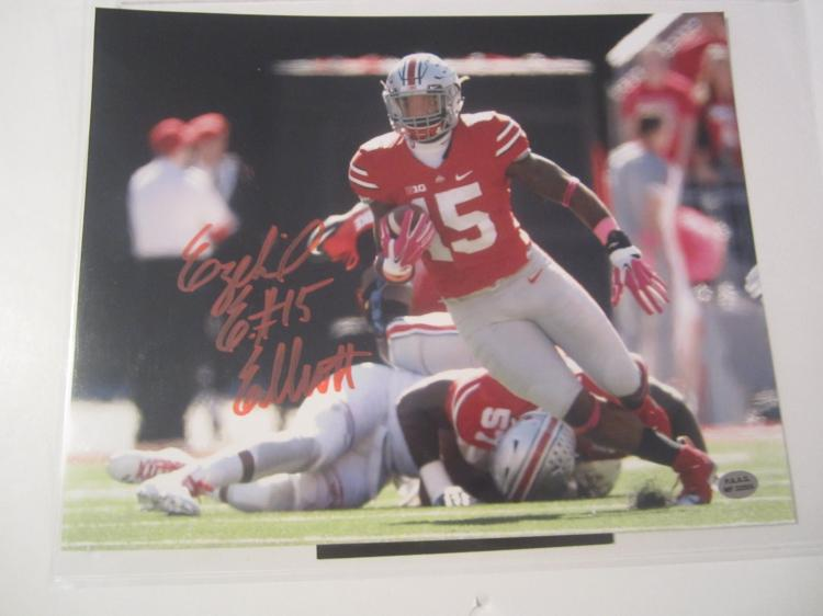 5f5c68e79db Lot 3408: Ezekiel Elliott Ohio State Buckeyes signed autographed 8x10 Photo  PAAS COA