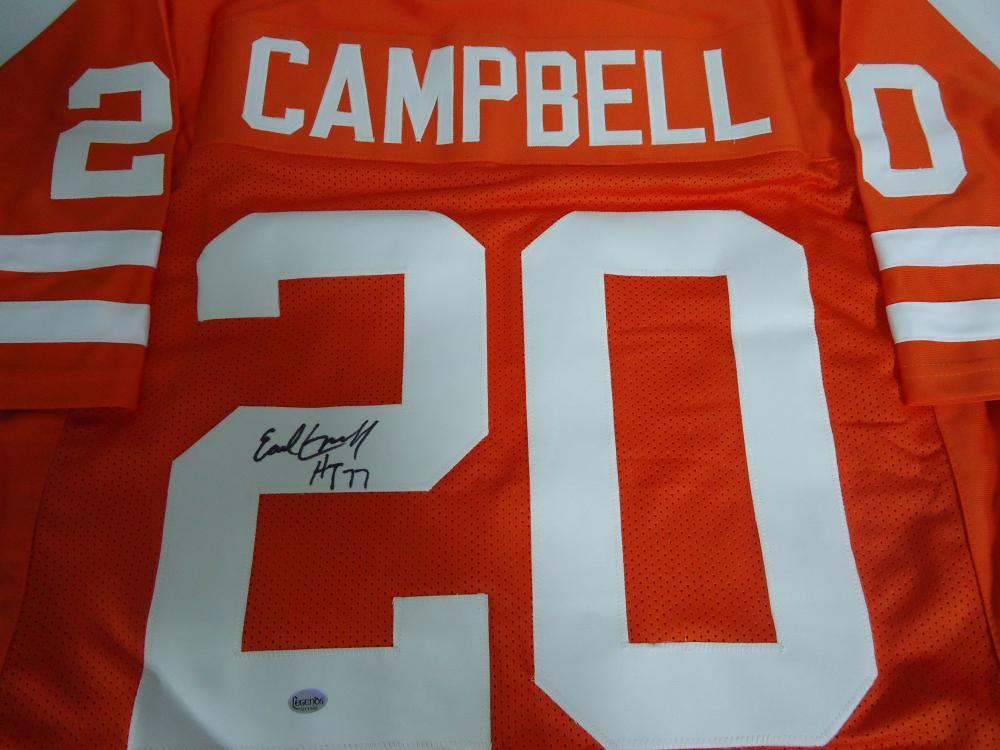 huge selection of cdde2 0d47a Earl Campbell Texas Longhorns signed orange football jersey ...