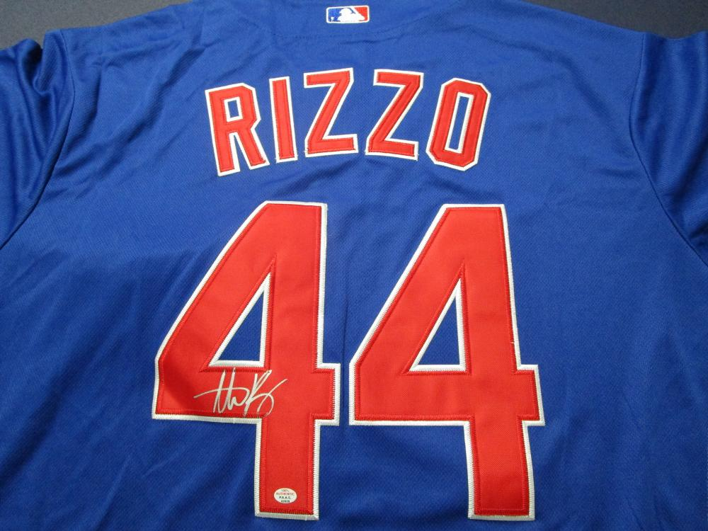low priced dba59 9c4ba Anthony Rizzo of the Chicago Cubs signed autographed ...
