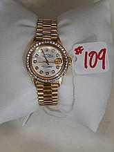 Ladies Rolex Watch, Mother of Pearl dial