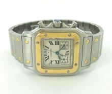 Designer 100% Original Cartier Men's Chronograph Automatic Watch Model 2425 w/ Box