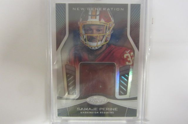 new arrivals 4c8d5 d3573 Samaje Perine Washington Redskins Piece of Game Used Jersey Card