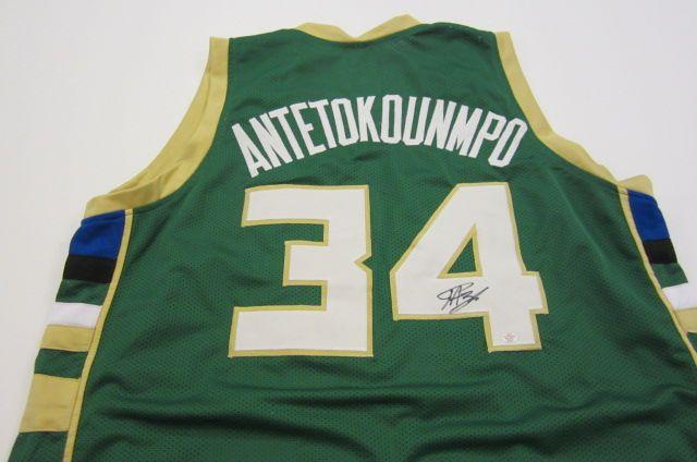 designer fashion 1727d 2860e Giannis Antetokounmpo Milwaukee Bucks signed autographed ...