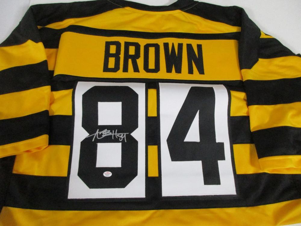 on sale 8cf39 6ed71 Antonio Brown Pittsburgh Steelers Signed Bumblebee Football ...