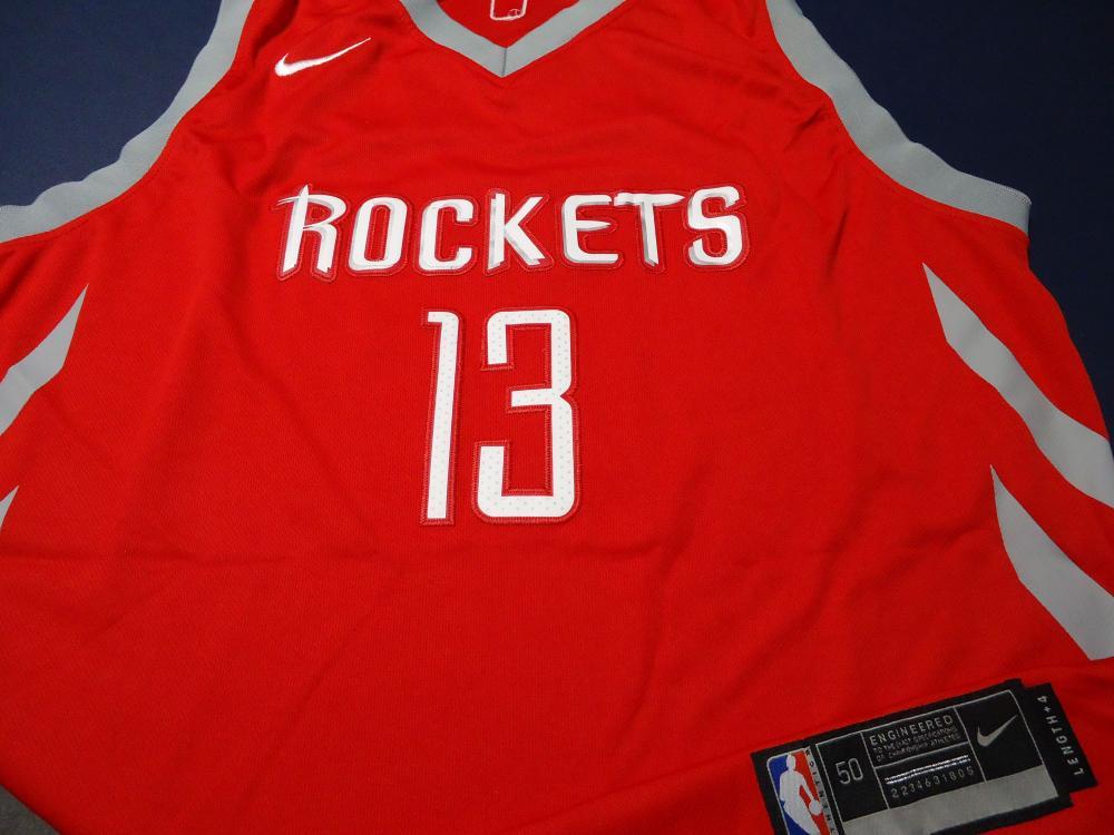 the best attitude 45532 8930d James Harden Houston Rockets Signed NBA Logo red basketball ...