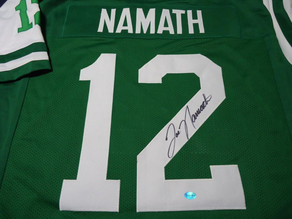 huge discount 936cb 458c2 Joe Namath New York Jets Signed autographed green football ...