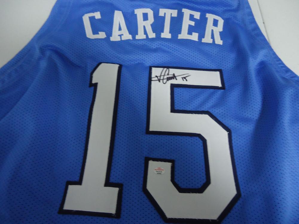 pretty nice 76212 ecade Vince Carter North Carolina Signed autographed blue ...