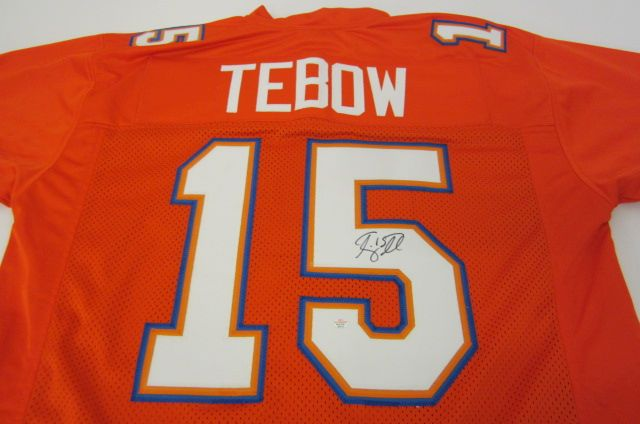 brand new 076c3 34f6c Tim Tebow Florida Gators Hand Signed Autographed Jersey Paas ...