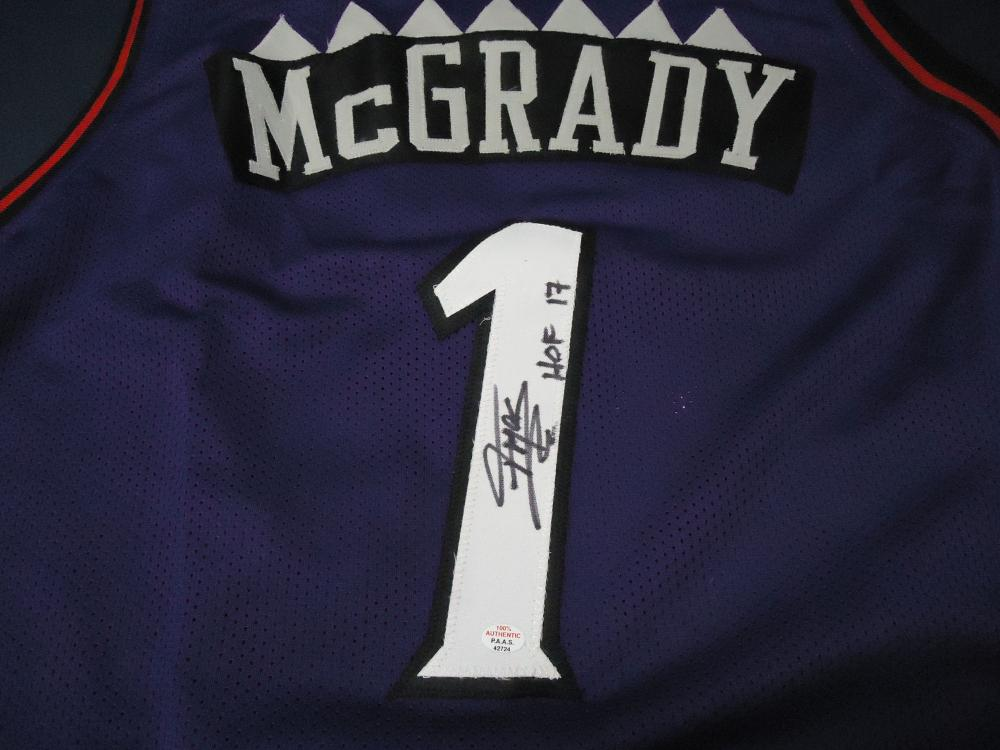 the best attitude 69552 5a916 Tracy McGrady Toronto Raptors Signed purple basketball ...