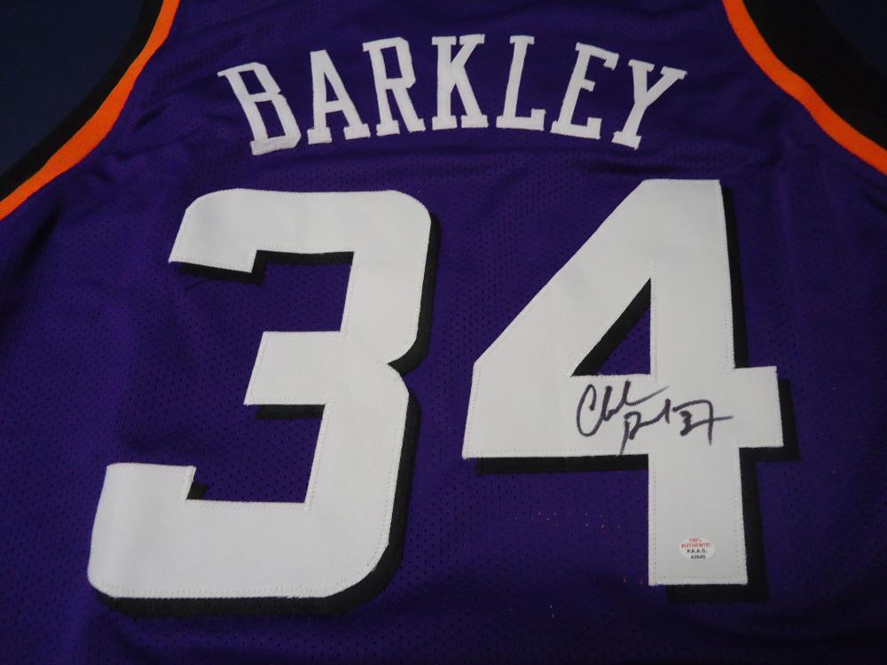 huge selection of c18e3 b9297 Charles Barkley Phoenix Suns Signed purple basketball jersey ...