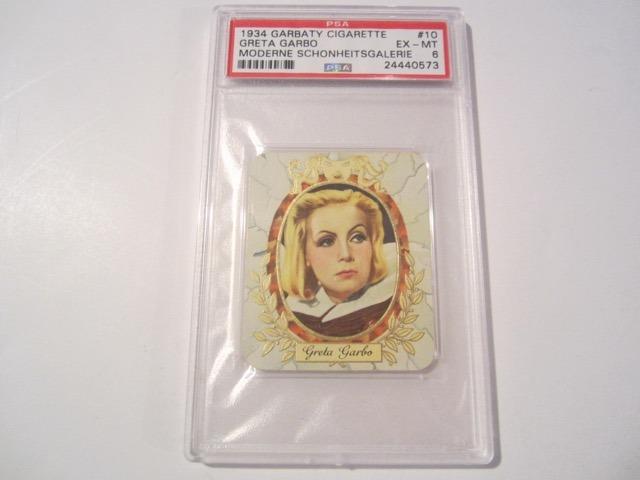 Greta Garbo1934 Garbaty Cigarette Card COA