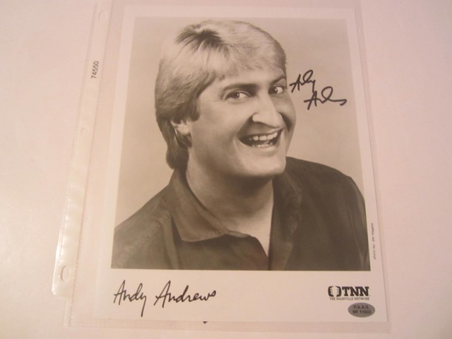 Andy Andrews Hand Signed Autographed Promo 8x10 Photo COA