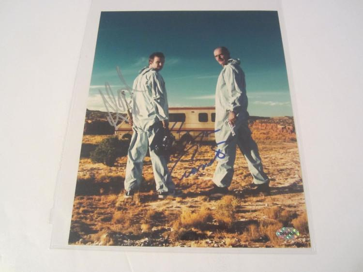 Bryan Cranston/AAron Paul Breaking Bad Hand Signed Autographed 8x10 Photo COA