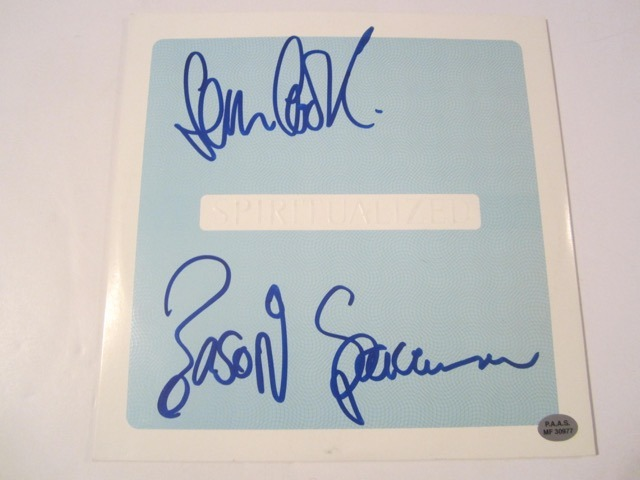 Spiritualized Hand Signed Autographed Picture Sleeve COA