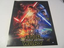 Star Wars The Force Awakens Harrison Ford and Many Others Hand Signed Autographed Movie Poster COA
