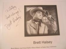 Brett Halsey Hand Signed Autographed Magazine Page COA