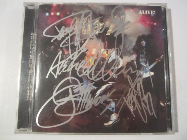 Kiss Alive Gene Simmons CD Booklet Authenticated Inc COA