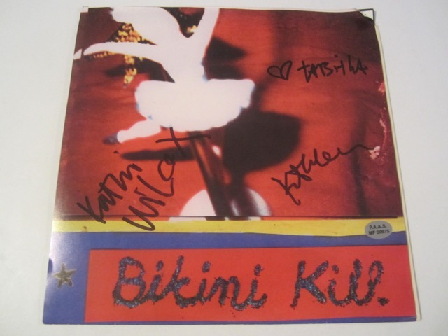 Bikini Kill Hand Signed Autographed Picture Sleeve COA