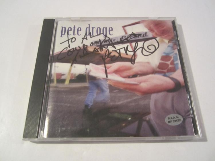 Pete Droge Hand Signed Autographed CD Cover COA