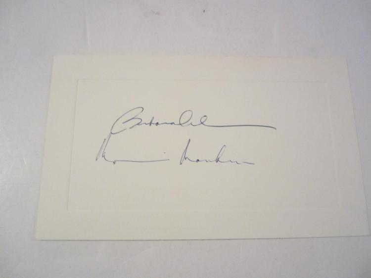 Barbara Cohen & Marianne Roney Hand Signed Autographed Vintage 3x5 card COA